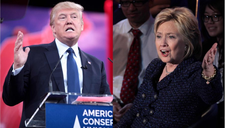 Poll of Support for Clinton or Trump