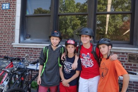 MMS students participate in International Walk/ Bike to School Day