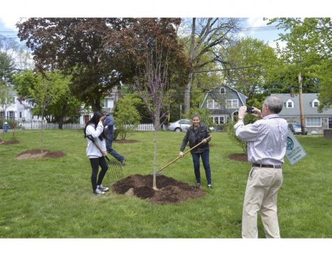 Millburn Township Green Team Puts Down Roots on MMS Grounds