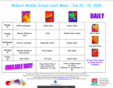 Lunch Menu for October 9 – 13